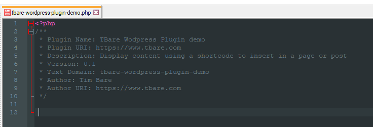 Create a simple WordPress Plugin with Shortcode - tbare com